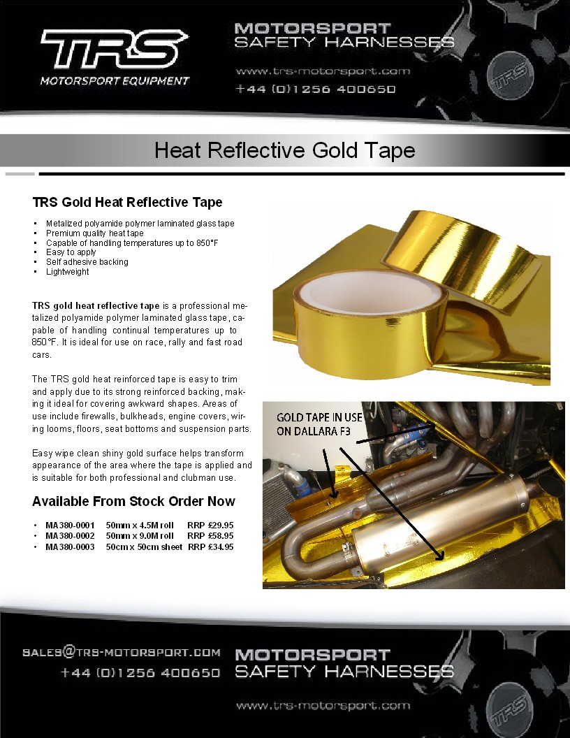 TRS Gold Heat Reflective Tape (9 metres)