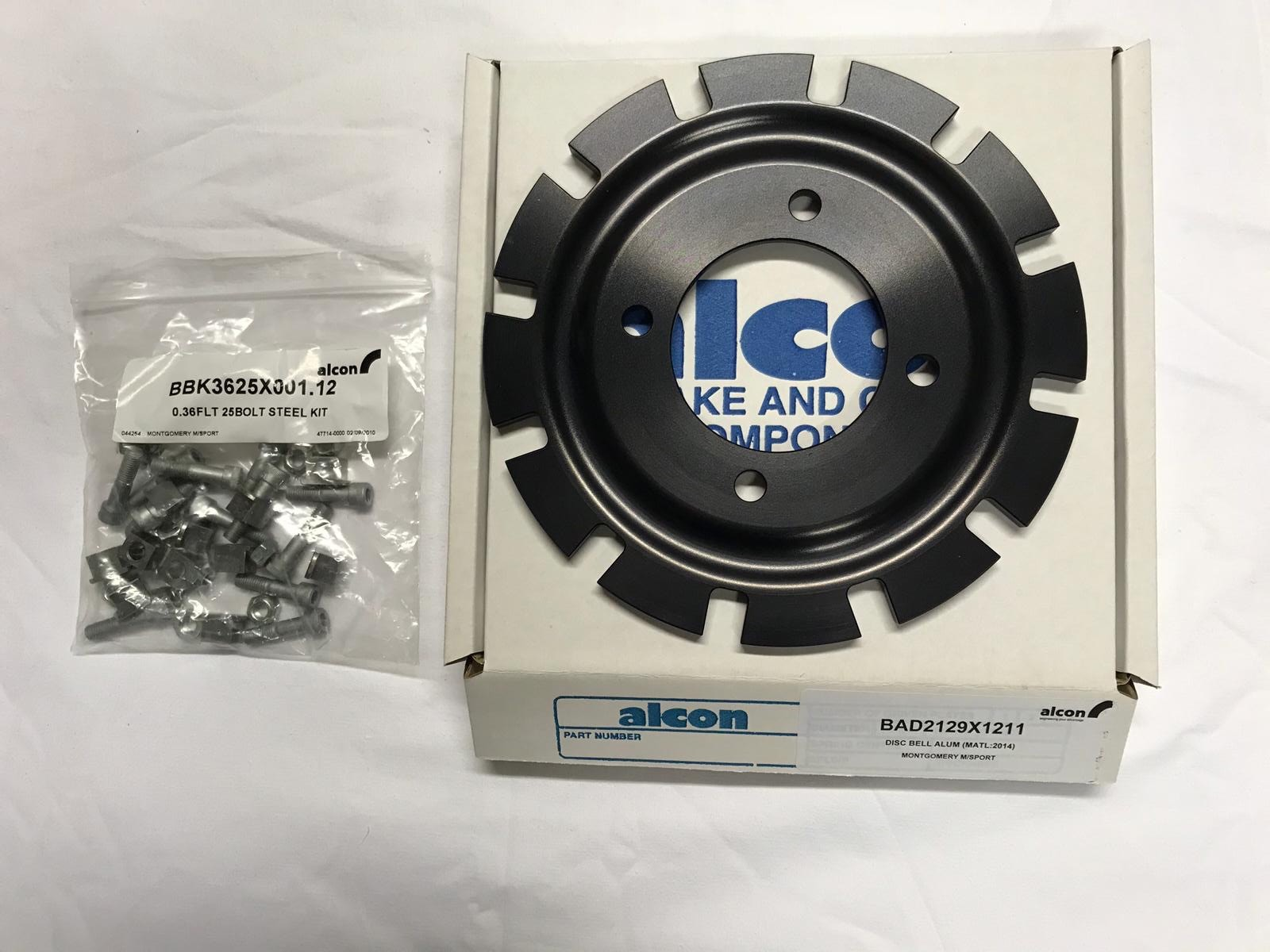 Alcon Mk 2 Escort floating disc bell kit