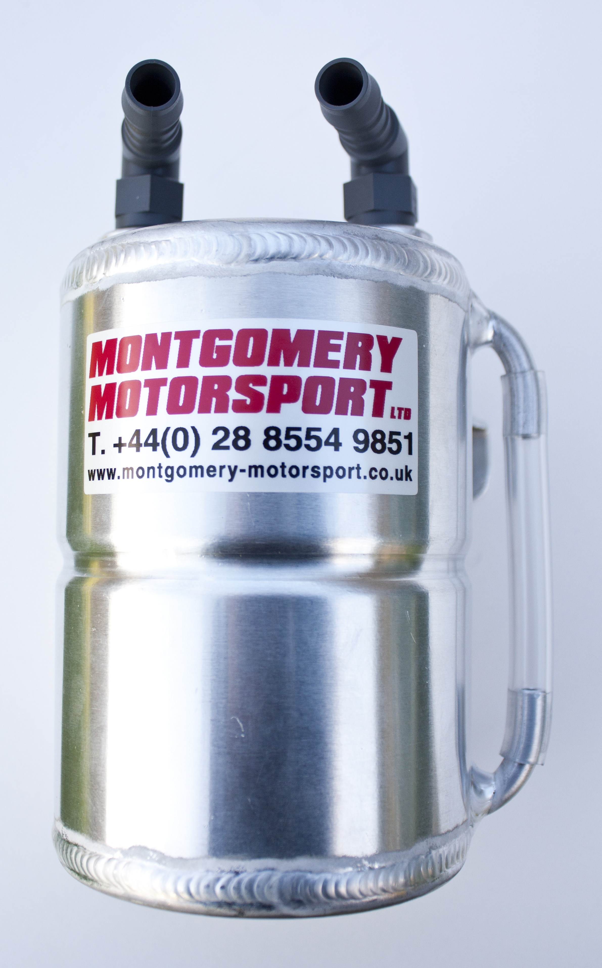 Alloy 1 litre Round Catch Tank with sight gauge