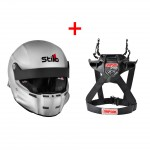Stilo ST5R Composite Rally Helmet + Simpson Hybrid Sport Device