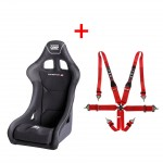 OMP Champ-R Seat + TRS 6 pt Hans Harness