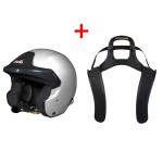 Stilo Trophy Des Rally Helmet + Stand 21 HANS device