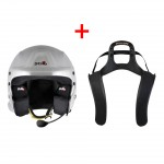 Stilo Trophy Des Plus Helmet + Stand 21 HANS device